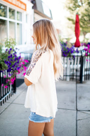 The Brooke Dolman Top (Ivory/Leopard)