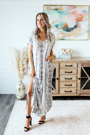 The Slytherin Maxi Dress (Grey) FINAL SALE