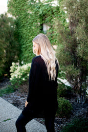 The Lettie Knit Cardigan (Black)