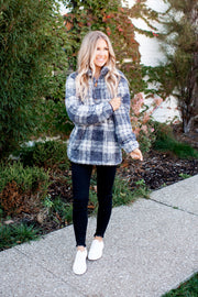 Grey Plaid Sherpa DOORBUSTER