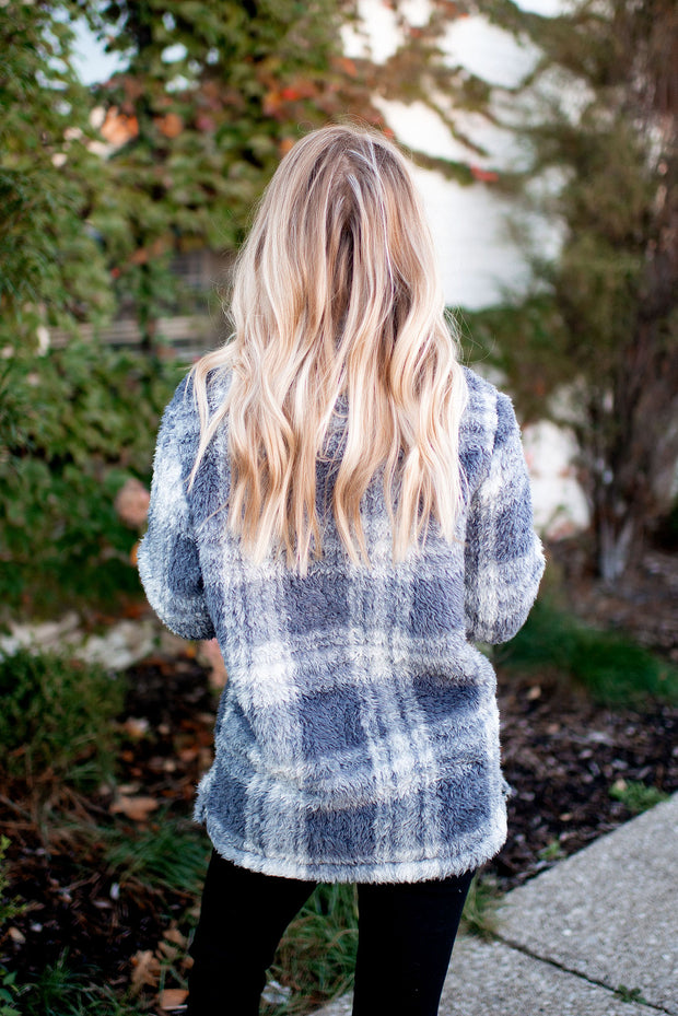 Grey Plaid Sherpa FINAL SALE