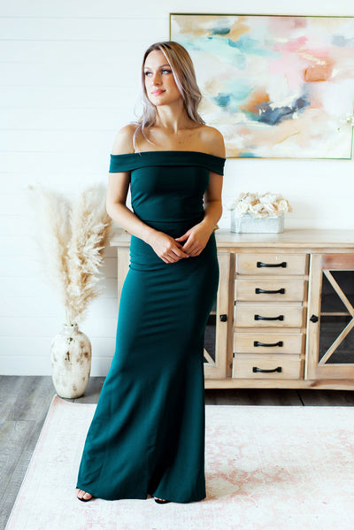 The Elayna Gown (Hunter Green)