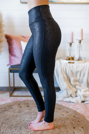 Mono B Crackle Foil Leggings (Black)