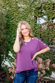 The Carson Cut Out Tee (Eggplant) DOORBUSTER
