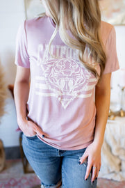 California Tiger Tee (Pink)