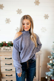 Chenille Turtleneck (Charcoal)