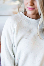 Speckled Confetti Top (Ivory)
