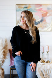Love At First Sight Sweater (Black)