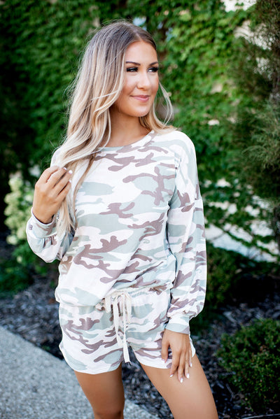 Camo & Coffee Lounge Set (Sage)