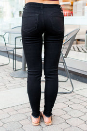 KanCan Ashley Distressed Black Skinnies