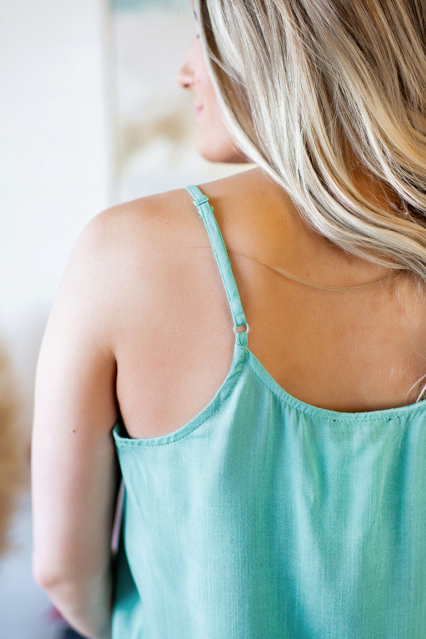 The Lily Crochet Tank (Mint)