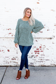 The Stasia Knit Sweater (Mint)