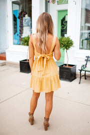 Radiate Happiness Mini Dress (Mustard)