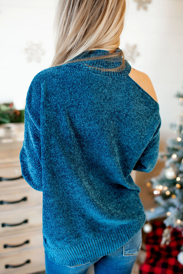 Chenille Turtleneck (Teal)