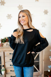 Cut Out Queen Top (Black)