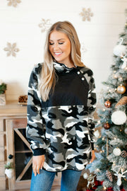 Camouflage Pullover (Black/Grey)