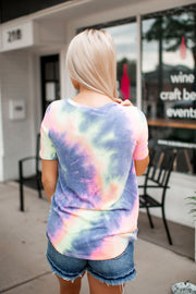 Sittin' Sideways Tie Dye Tee (Charcoal)FINAL SALE
