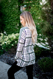 The Polly Plaid Tunic (Olive)