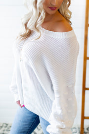 Love At First Sight Sweater (White)