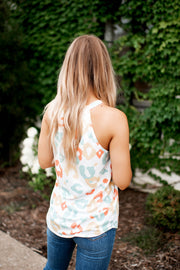 Running Wild Halter Tank (Coral/Teal/Yellow)
