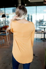 The Bitsy V-Neck (Mustard) DOORBUSTER