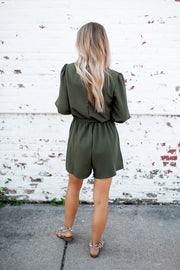 The Kelly Romper (Olive)