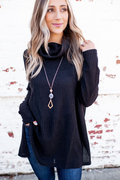 Coming Home To Stay Tunic (Black)