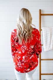 Finding Florals Blouse (Red)