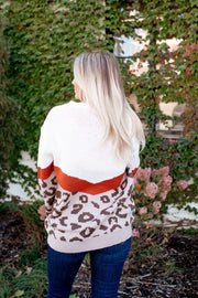Cozy Kitty Sweater (Rust/Taupe)