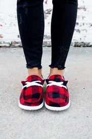 Gypsy Jazz Heather Sneakers (Red Plaid)