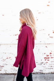 Coming Home To Stay Tunic (Dark Burgundy) DOORBUSTER