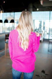 The Dakota Turtleneck (Hot Pink) DOORBUSTER