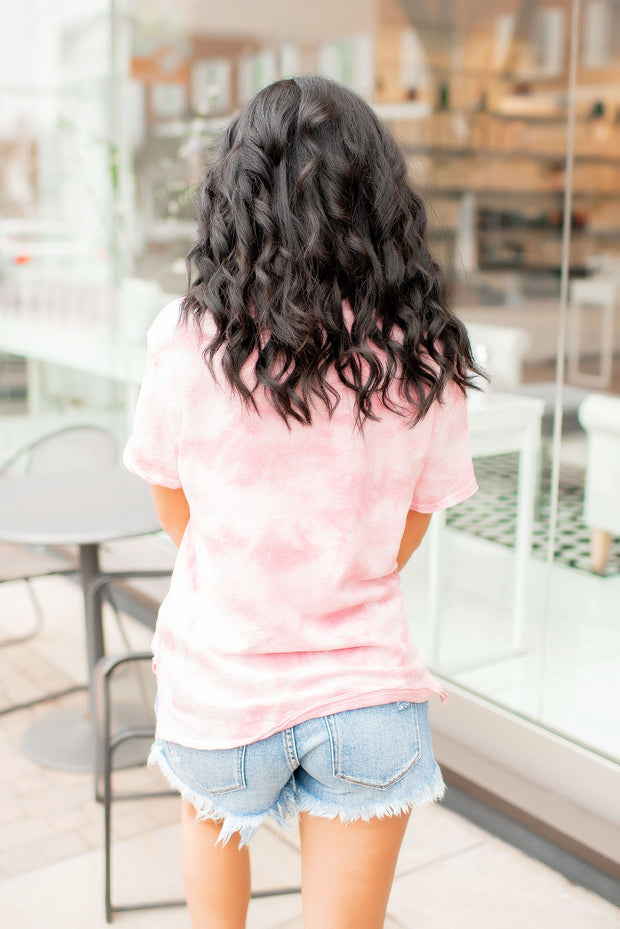 Z Supply Cloud Tie Dye Tee (Zephyr Pink)