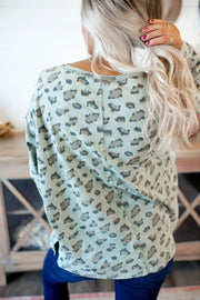 The Rajah Leopard Top (Olive)