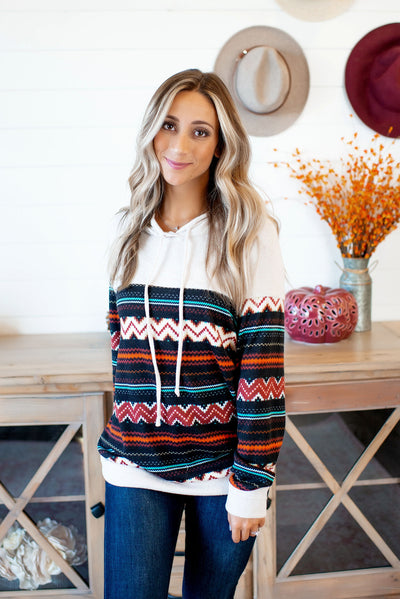 Remember The Times Aztec Hoodie (Ivory)