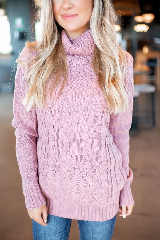 The Dakota Turtleneck (Rose) DOORBUSTER