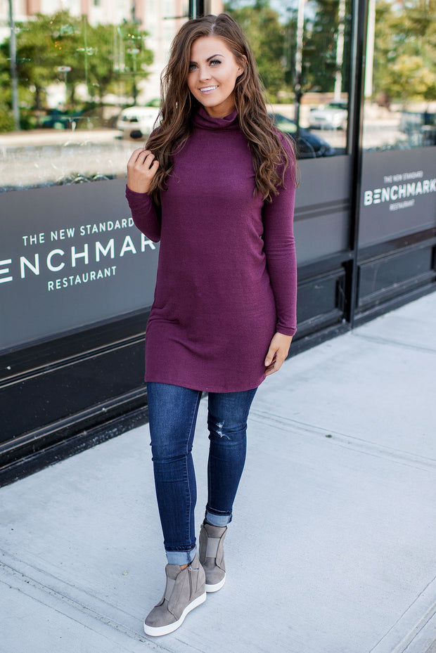 Z Supply Turtleneck Dress (Mauve Wine) FINAL SALE