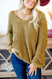 Reasons To Relax Sweater (Mustard) FINAL SALE