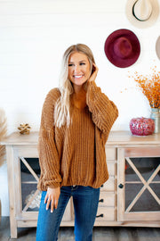 Reasons To Relax Sweater (Camel) FINAL SALE