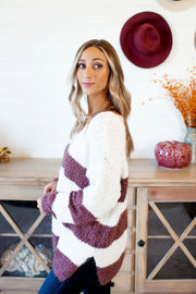 Hadley Striped Sweater (Burgundy)