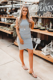Thank You, Next Midi Dress (Heather Grey)