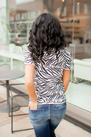 Z Supply Zebra Tee (Champagne Mist) FINAL SALE