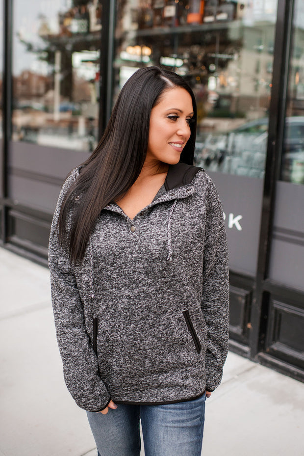 The Remington Hoodie (Heathered Black)