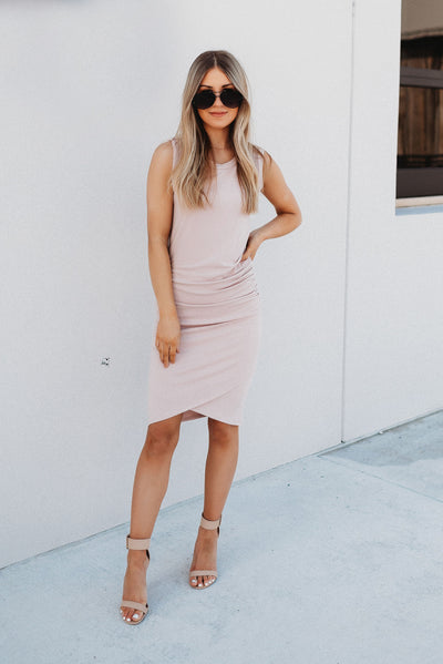 Thank You, Next Midi Dress (Dusty Rose)