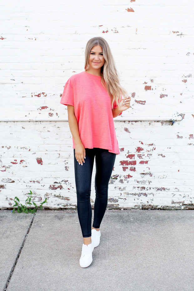 The Crew Top (Coral) FINAL SALE