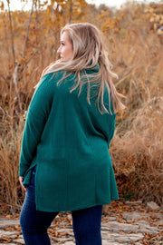 Coming Home To Stay Tunic (Deep Green) DOORBUSTER