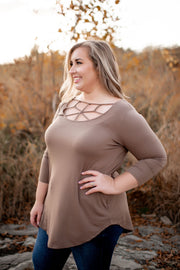 Webbed Tunic Top (Ivory) FINAL SALE