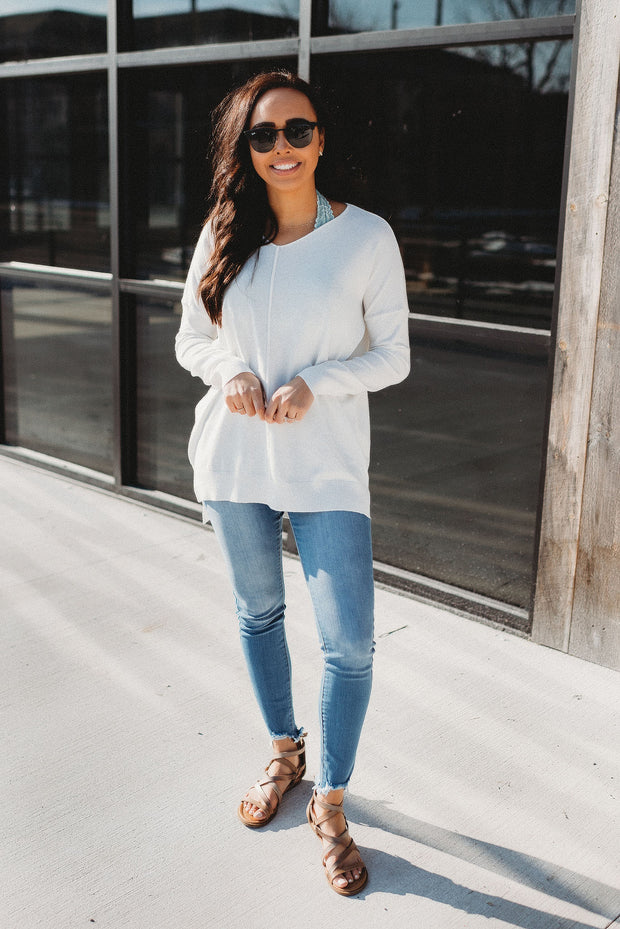 The Delilah Sweater (Ivory) FINAL SALE