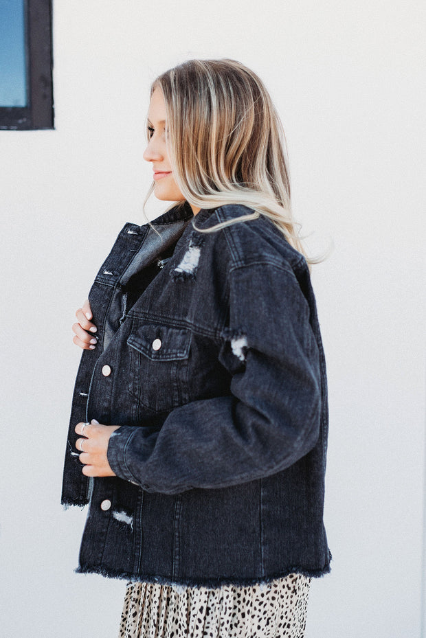 The Carter Denim Jacket (Black)