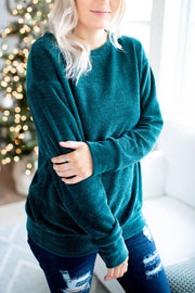The Hali Knit Top (Hunter Green)(FINAL SALE)